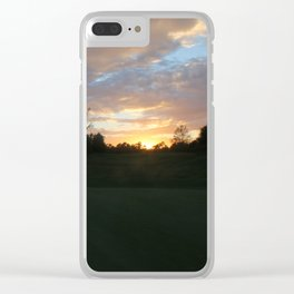 Sunset over intercoastal Clear iPhone Case