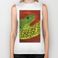 snake Biker Tanks featuring Snake by maggs326