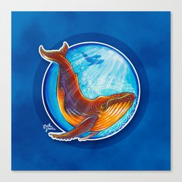 Humback Whale Canvas Print