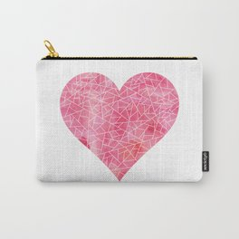 Fractured Heart Carry-All Pouch