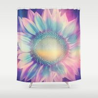 the thing Shower Curtains featuring Pretty thing by Viviana Gonzalez