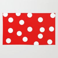 polka dot Area & Throw Rugs featuring Polka dot by Bubblemaker