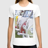 volkswagen T-shirts featuring Old Volkswagen Splitty Buses by Premium