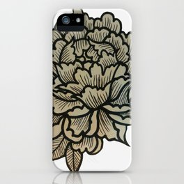 Hella Extra Traditional Flower iPhone Case