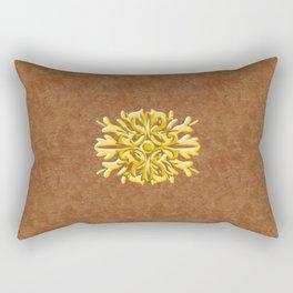 """""""Marron Doré"""" Rectangular Pillow"""