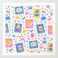 cupcakes Art Prints featuring Cupcakes by Hui_Yuan-Chang