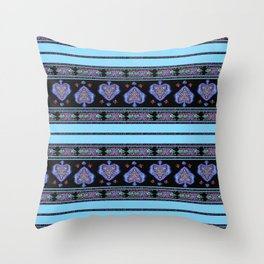 Persian Tapestry Blue Throw Pillow