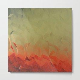 low poly gradient Metal Print