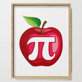 Apple Pi Cute Math design Serving Tray