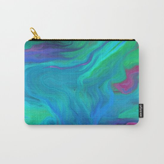 AGATE BLUE ABSTRACT OIL PAINTING Carry-All Pouch