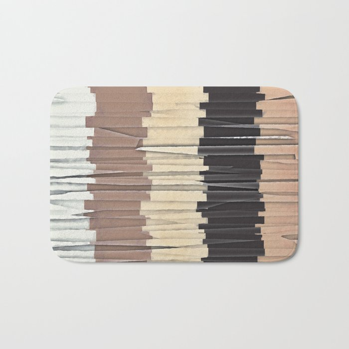 Shredded Stripes Abstract Bath Mat