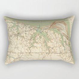 Vintage Map of Virginia Beach & Cape Henry (1918) Rectangular Pillow