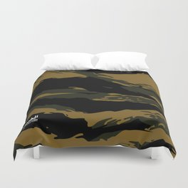 Green Tiger Camouflage Duvet Cover