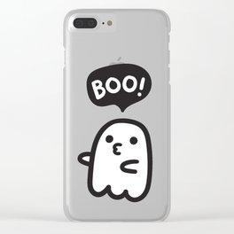 Cute ghosts Clear iPhone Case