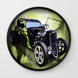 1934 Ford Three Window Coupe Hot Rod Wall Clock