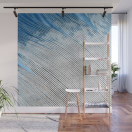 Feathers   White and Blue Feather Tip   Spirit   Nadia Bonello Wall Mural