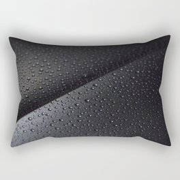 Metal background with water drops Rectangular Pillow