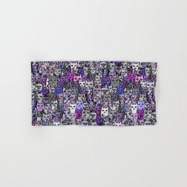 Ultraviolet Gemstone Cats Hand & Bath Towel