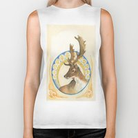 antlers Biker Tanks featuring Antlers  by Lauren Ellie Johnson