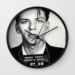 Frank Sinatra Mug Shot Vertical Wall Clock
