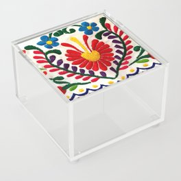 Red Mexican Flower Acrylic Box
