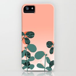 Later Days - indoor house plant ombre pink palm springs desert socal los angeles urban hipster retro iPhone Case