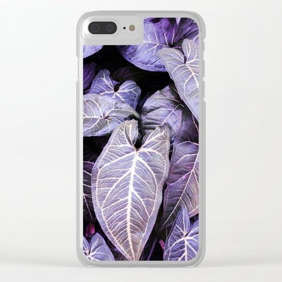 Jungle leaf - amethyst Clear iPhone Case