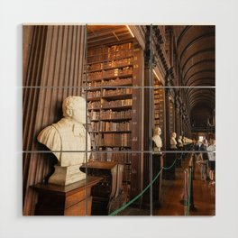The Long Room of Trinity College Library in Dublin, Ireland Wood Wall Art