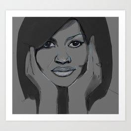 Michelle Obama Art Print