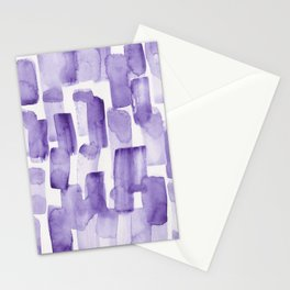 Purple Watercolour Patterns   190129 Abstract Art Watercolour Stationery Cards