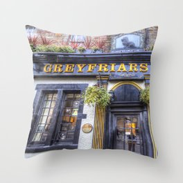 Greyfriars Bobby Pub edinburgh Throw Pillow