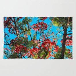 Bright Tropical Tree Rug