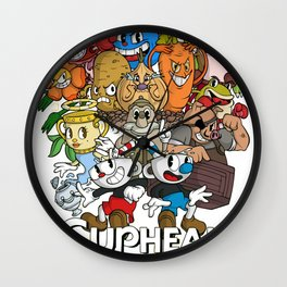 cuphead Wall Clock