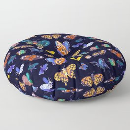 Butterflies Day Floor Pillow
