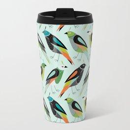 Little Birdies Repeat - Mint Multi Travel Mug