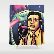 the War of the Worlds Shower Curtain