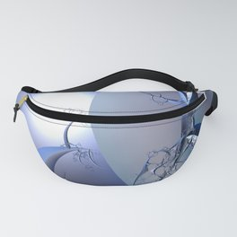 Abstract trees in icy moonlight illusion Fanny Pack