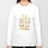 gift card Long Sleeve T-shirts featuring Christmas Gift 02 by BlueLela