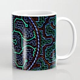 Song to protect the home - Traditional Shipibo Art - Indigenous Ayahuasca Patterns Coffee Mug