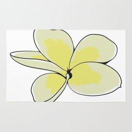 Frangipani Plumeria Flower Rug