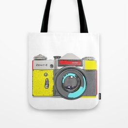 Pop Art Vintage Camera Tote Bag