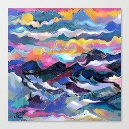 Montain Sunrise Canvas Print