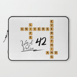Life Universe and Everything Scrabble 42 Laptop Sleeve