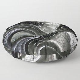 Black Abstract 2 Floor Pillow