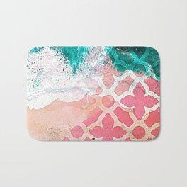 Mediterranean Mix - Ocean Color Beach Pattern Bath Mat