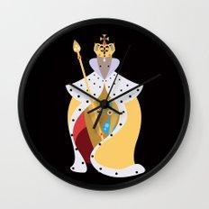 Queen Wolf Wall Clock