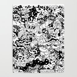 Yellow Bear Comicz Cartoon World Poster