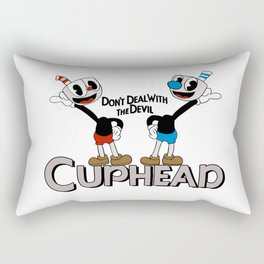 Don't Deal With The Devil - Cuphead Rectangular Pillow