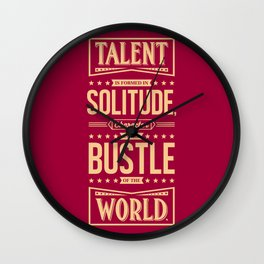 Lab No. 4 Talent Is Formed Johann Goethe Life Motivational Quotes Wall Clock