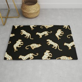 Leopard at Night Rug